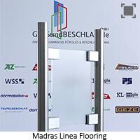 Glasart Madras Linea Flooring - Klarglas einseitig geaetzt