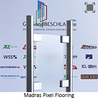 Glasart Madras Pixel Flooring - Klarglas einseitig geaetzt