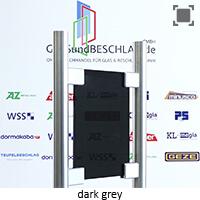 Glasart Dark grey - je nach Lichtverhaeltnissen und Blickwinkel Durchsicht mehr/weniger moeglich