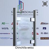 Glasart Chinchilla weiss, mit normalem Gruenschimmer
