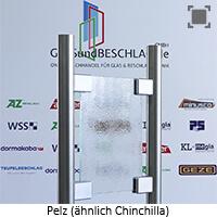 Glasart Pelz - aehnlich Chinchilla weiss, mit normalem Gruenschimmer