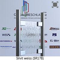 Glasart Silvit weiss (SR 178), mit normalem Gruenschimmer