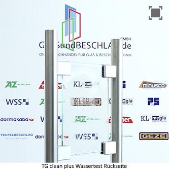 Glasart Timeless (Duschenglas); Basis: Planiclear - etwas reduzierter Gruenschimmer, einseitig metalloxidiert