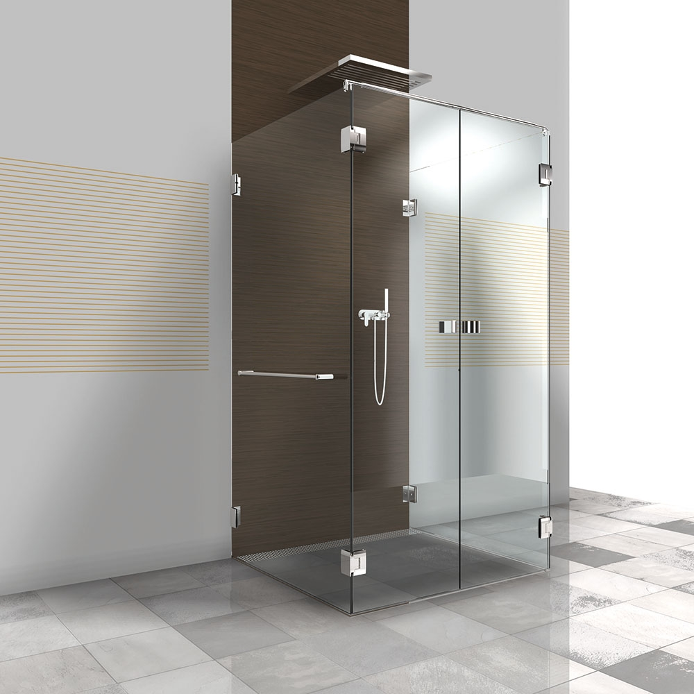 dusche aus glas mit beschl gen pontere 1 402. Black Bedroom Furniture Sets. Home Design Ideas