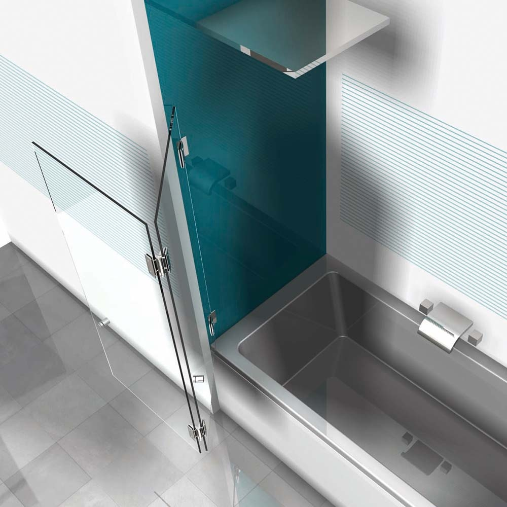 zweifl geliger glas badewannenaufsatz farfalla 3 602. Black Bedroom Furniture Sets. Home Design Ideas