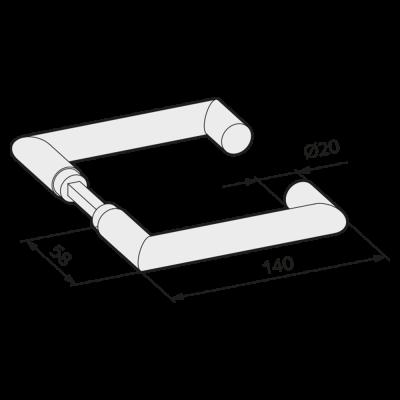 WSS Tuerdruecker Rechteckform