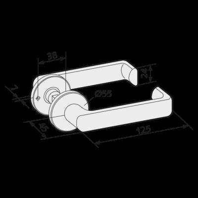 WSS Türdrücker flachovale Form mit Rosetten