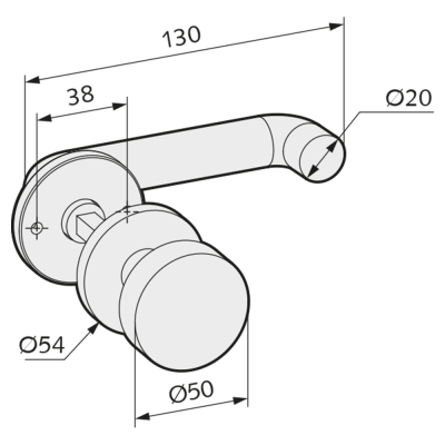 WSS Tuerdruecker-Wechselgarnitur mit Rosetten