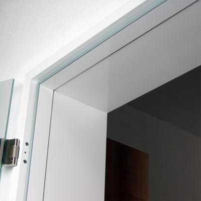 Umfassungszarge ALU für Glastüren, eckig, Wanddicke 146-190 mm
