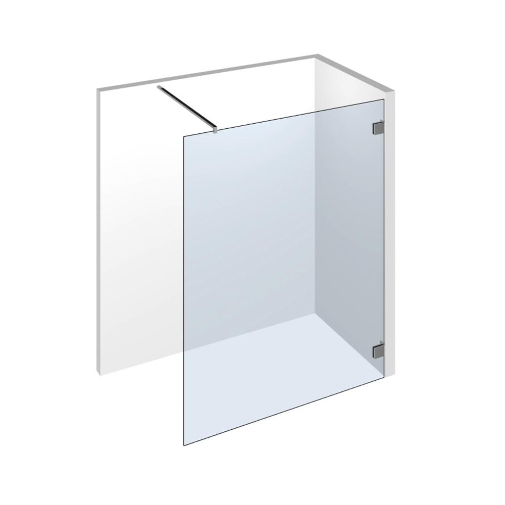 farfalla walk in dusche als glaselement zur befestigung an die wand durch winkelverbinder mit einer stabilisationsstange - Dusche Barrierefrei Planung