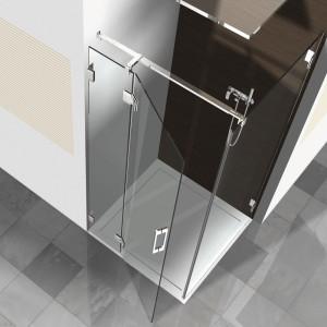Glasdusche Pontere 1-210, 1flg. Duschtür mit Festteil in eine Ecke