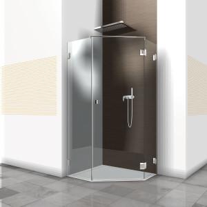 Glasdusche Pontere 1-301, 1flg. Duschtür zwischen 2 Festteilen 90° im Eck