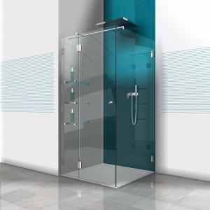 Glasdusche Farfalla 3-210, 1flg. Duschtür mit Festteil in eine Ecke