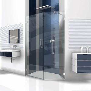 Glasdusche Flamea 7-201, 1flg. Duschtür mit 90° Festteil in eine Ecke