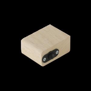 Schnappklotz fuer Holzgriff zur Nutzung einer Saunatuer