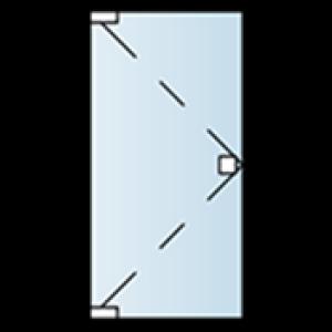 Ganzglasanlagen Tuerfluegel ecklagernd oben und unten