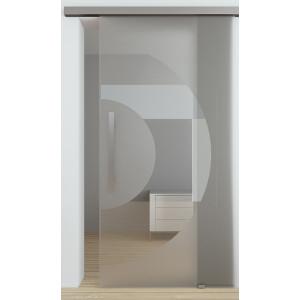 Glasschiebetuer Semicircle zur Wandmontage mit Evoline Top