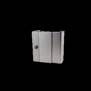 2.04a Durchgangszarge aus Aluminium zum Umfassen fertiger Wände - Abbildung zeigt Ausführung mit Falz mit dessen Verkleidung (links)