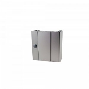 2.05a Durchgangszarge aus Aluminium zum Umfassen fertiger Wände - Abbildung zeigt Ausführung mit Falz und dessen Verblendung durch ein Rechteckrohr