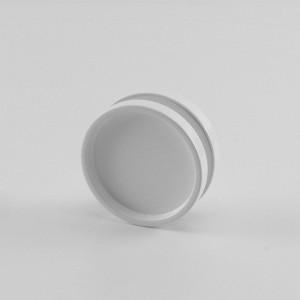 Griffmuschelpaar in LM silber, weiss oder schwarz fuer 8 und 10 mm Glas, Durchmesser 65 mm
