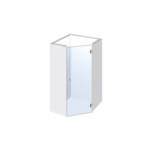 Glasdusche Pontere 1-305, 1flg. Duschtür für Nische im Eck