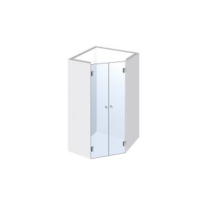 Glasdusche Pontere 1-306, 2flg. Duschtür für Nische im Eck