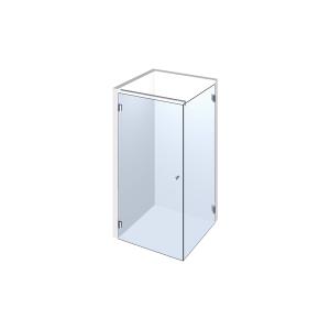 Glasdusche Farfalla 3-201, 1flg. Duschtür mit 90° Festteil in eine Ecke