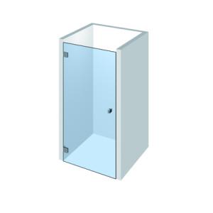 Nischendusche Echtglas mit Flamea+ Duschbeschlagstechnik
