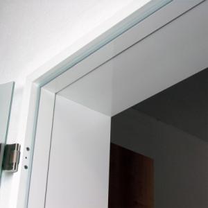 Umfassungszarge ALU für Glastüren, eckig, Wanddicke 111-145 mm