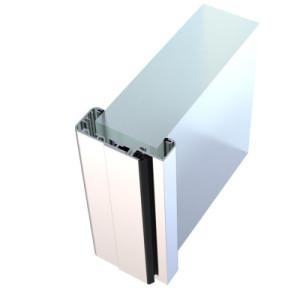 Umfassungszarge ALU für Glastüren, gerundet, Wanddicke 111-145 mm