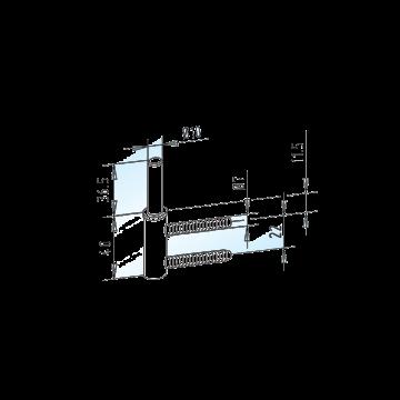 WSS STUDIO Rahmenteil für Holzzarge mit verlängertem Bolzen