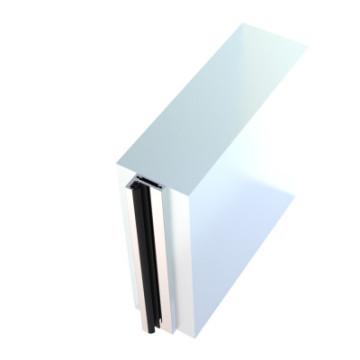 schmale Blockzarge aus Aluminium zur seitlichen Montage im Mauerdurchgang