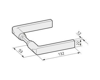 WSS Tuerdruecker kantige Form