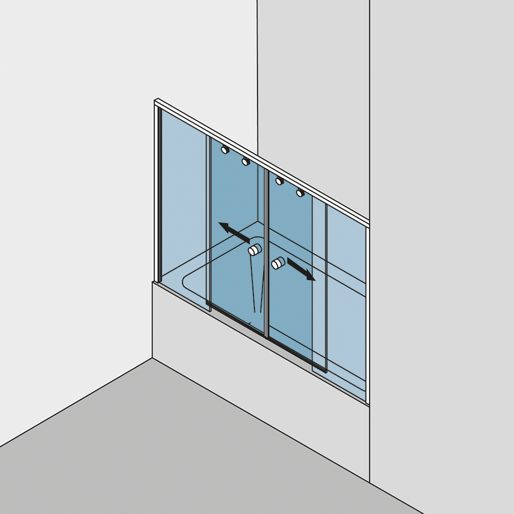 duschschiebet r 2flg in einer nische gral so 730 typ 375. Black Bedroom Furniture Sets. Home Design Ideas