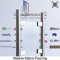 Glasart Madras Matrix Flooring - Klarglas einseitig geaetzt
