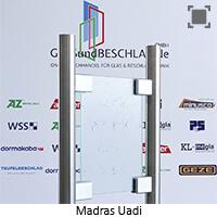Glasart Madras Uadi - Klarglas einseitig geaetzt