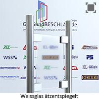 Glasart Weissglas - klares Glas aetzentspiegelt (einseitig) mit stark reduziertem Gruenschimmer
