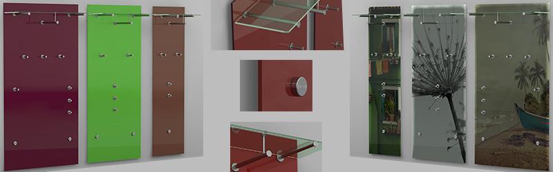 Wandgarderobe Glas Satiniert.Hochwertige Glas Garderoben Individuell Nach Maß