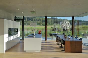 Moderne au enverglasungen isoliernd oder einfach trennend - Architektenhaus innen ...