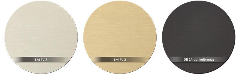 Dorma Beschlagsfarbe LM EV 3 - LM EV 2 - LM DB 14 - dunkelbronze C34