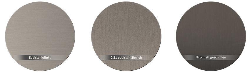 WSS Beschlagsfarbe Edelstahleffekt C-31 edelstahlaehnlich Edelstahl poliert