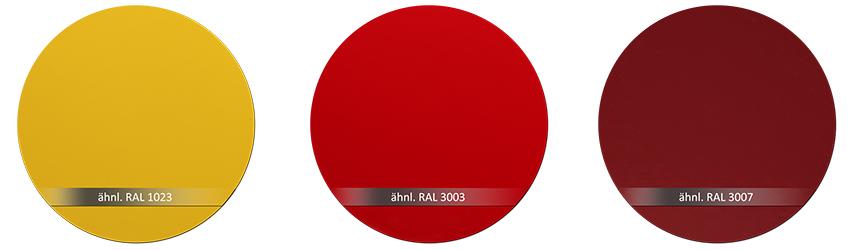 WSS Beschlagsfarbe RAL 1023 RAL 3003 RAL 3007