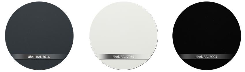 WSS Beschlagsfarbe RAL7016 RAL7035 RAL9005