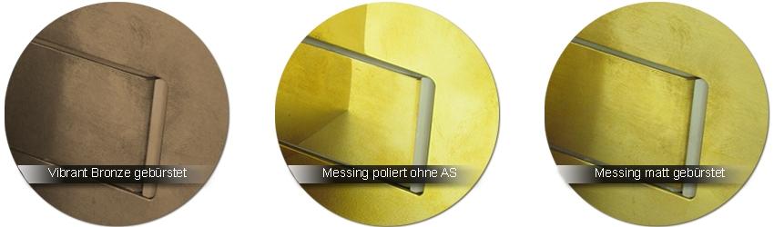 GRAL Beschlagfarben vibrant bronze | messing poliert | messing matt ohne Anlaufschutz