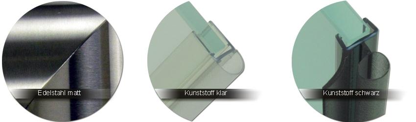 Pauli-und-Sohn Beschlagfarben Edelstahl matt  |  Kunststoff klar  |  Kunststoff schwarz