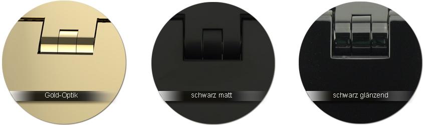 Pauli-und-Sohn Beschlagfarben Gold-Optik  |  schwarz matt  |  schwarz glaenzend