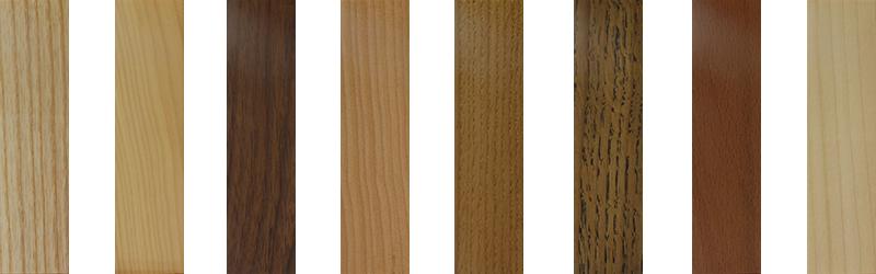 Holzarten von Griffen oder Holzknoepfen