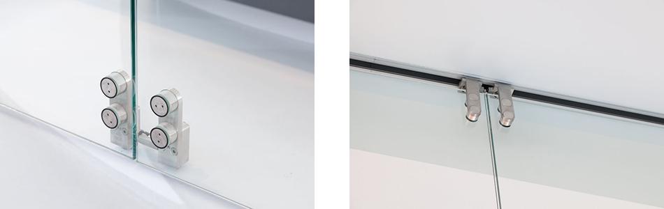 Horizontalschiebewand HSW Punkto von Teufelbeschlag - Detail