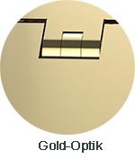 Pauli+Sohn Beschlagfarbe Gold-Optik (ZNPVD20)