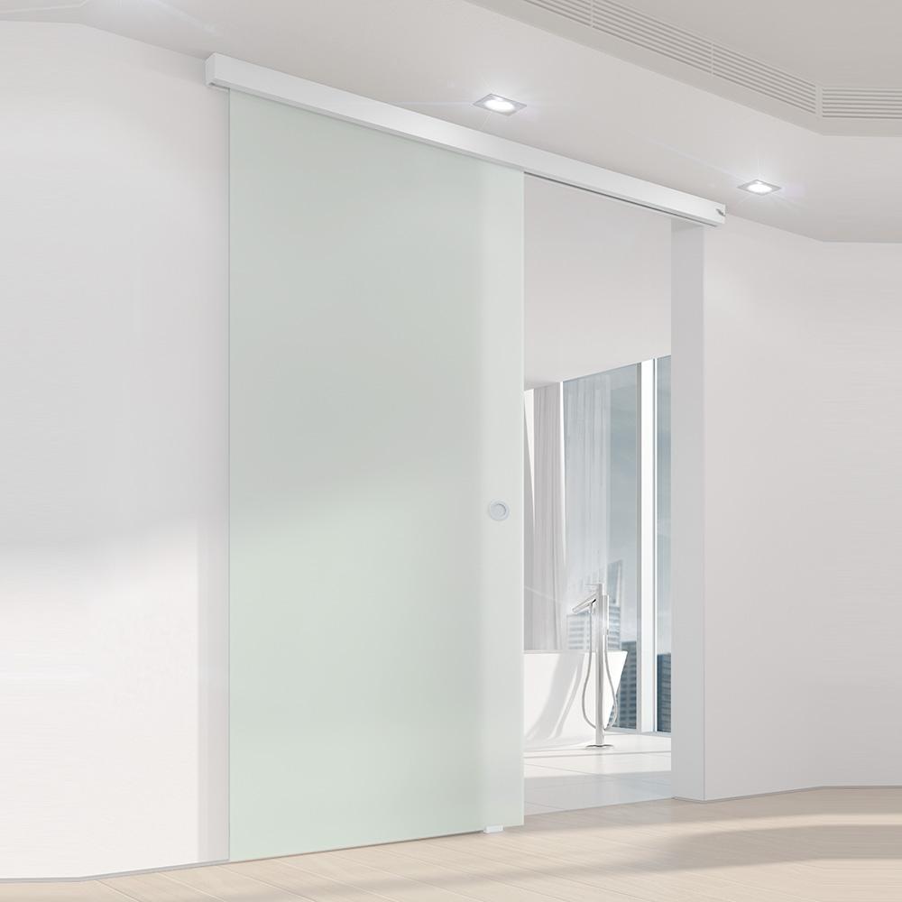 Deckenmontage Glasschiebetüren